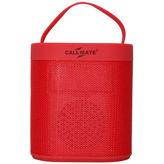 Callmate J-43 Portable Wireless Bluetooth Speaker - Red