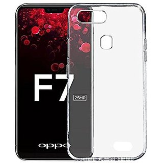 Oppo F7 Shock Proof Transparent Back Cover