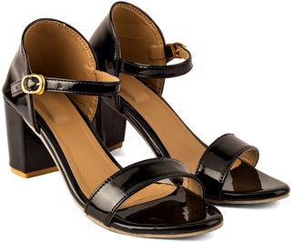 Black Women Heel Sandal