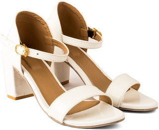 White Women Heel Sandal