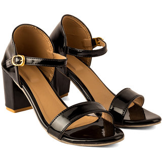 Black Women Heel Sandal