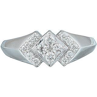 RSBL BIS Hallmarked White Gold Diamond ring DGLA Approved 14kt  WR38