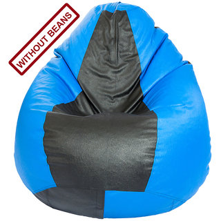 Home Berry Multicolor (Blue Black) Bean bag Cover (without beans) LSize