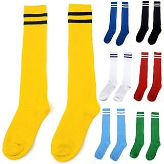 2 Pairs Football Socks Available In Diffrent Colours (Total 4 Pieces Socks)