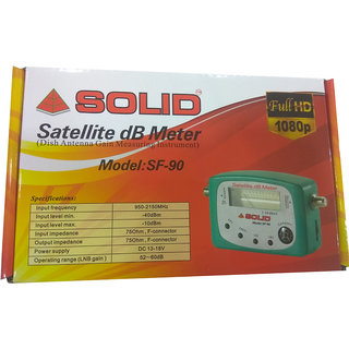 Solid SF-90 Satellite Signal Finder DB Meter With Compass For All Full-HD  Dish T V Network