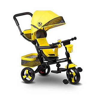 OH BABY Baybee Duster Tricycle with Cycle with Canopy (YELOOW) SE-TC-79