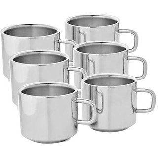 TEA COFFEE CUP SET STAINLESS STEEL 6 PCS-RICHLIFE