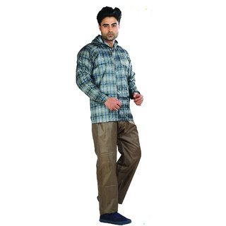 Mens Anchor Checks Reversible Rain Suit