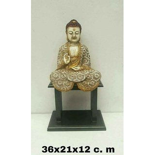 Buddha Sitting on Table, Made of marble dust,