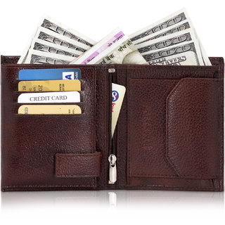 POLLSTAR Vertical Elastic Genuine Leather RFID Blocking Wallet For Mens (WL59BN)