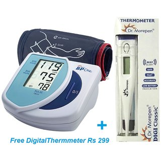 DR.MORPEN BP3 BG1 BP Monitor with Free Digital Thermometer Rs 299