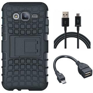 Vivo V7 Shockproof Tough Armour Defender Case with OTG Cable and USB Cable