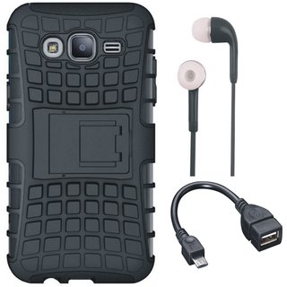 Vivo V7 Shockproof Tough Defender Cover with Earphones and OTG Cable