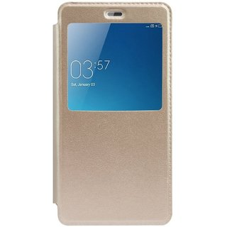 Redmi Note 4 Flip Cover by RayKay - Golden
