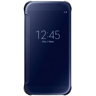 KEP CLEAR  Blue Flip Cover for Samsung Galaxy S7 Edge