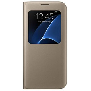 Samsung Galaxy S7 Edge Flip Cover by ELEF - Golden