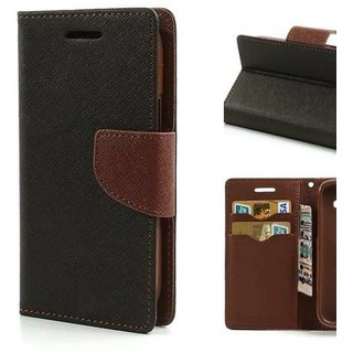 Moto G3 Flip Cover by Top Grade - Brown