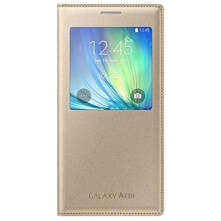 Samsung Galaxy A7 2016 Flip Cover by 2Bro - Golden
