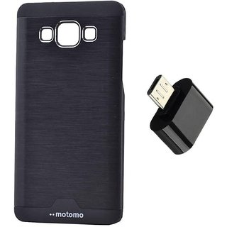 Samsung Galaxy On5 Pro Motomo Back Cover With Mini OTG Adapter By Snmobista - Black