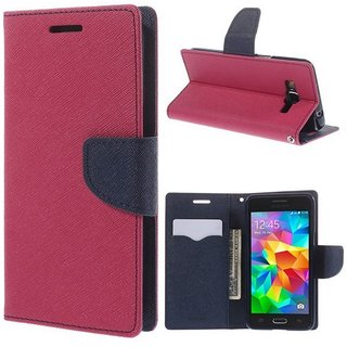 Samsung Galaxy J2 Flip Cover by Coverup - Pink