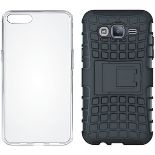 Moto C Shockproof Tough Armour Defender Case with Silicon Back Cover, Free Silicon Back Cover