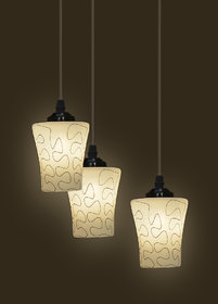 Somil Pandent Hanging Ceiling Lamp (Three Lamp) Colorful  Decorative