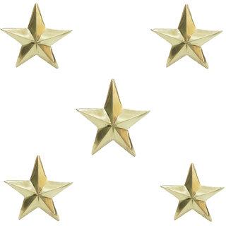 STAR SHINE STYLISH AND ROYAL GOLDEN (SET OF 5) BRASS STAR EMBLEM For Tata Safari Storme
