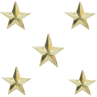 STAR SHINE STYLISH AND ROYAL GOLDEN (SET OF 5) BRASS STAR EMBLEM For Audi A3