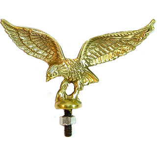 STAR SHINE STYLISH AND ROYAL EAGLE-MUDGAURD-GOLDEN-EMBLEM-LOGO-(SET OF 1) For Suzuki Gixxer 150