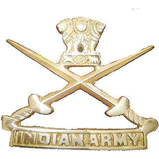 STAR SHINE STYLISH AND ROYAL GOLDEN   BIG (SET OF 1) BRASS INDIAN ARMY EMBLEM  LOGO For Bajaj Discover 125 St