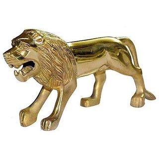 STAR SHINE STYLISH AND ROYAL STANDING-LION-MUDGAURD-GOLDEN-EMBLEM-LOGO-(SET OF 1) For Skoda Rapid