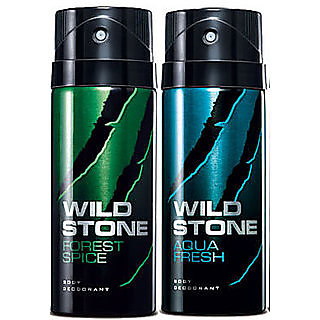 Wild stone Deo Deodrant Body Spray For Men - Pack of 2(Forest Spice Aqua Fresh)