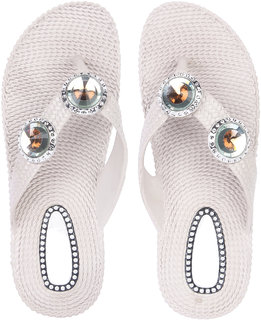 Czar Flip Flops Slipper for Women RO-01 Beige