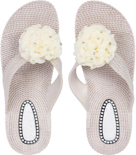 Czar Flip Flops Slipper for Women RO-02 beige