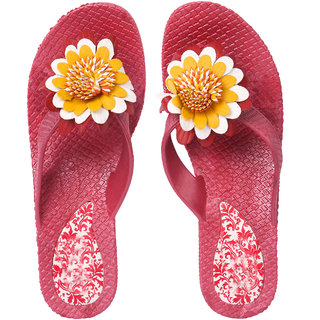 be46c364ac02 Buy Czar Flip Flops Slipper for Women RO-08 Maroon Online - Get 72% Off