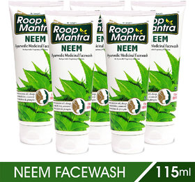 Roop Mantra Neem Face Wash -115 ml (Pack of 5)