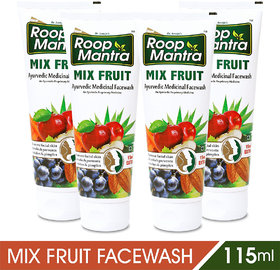 Roop Mantra Mix Fruit Face Wash -115 ml (Pack of 4)