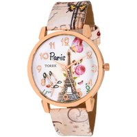 HK Love Peris Effil Tower pink Best Designing Stylist Analog Leather Belt  Multi color Watch For Women,girls watch