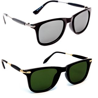 9e943997388 TheWhoop Combo UV Protected New Trendy Mirror Silver Black And Green Golden  Goggle Wayfarer Sunglasses For Men