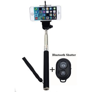 Shivrun Bluetooth Selfie Stick (Assorted Color)