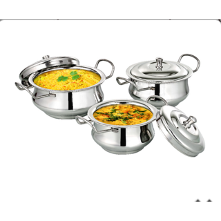 Royal Handi Set with Lid (3pcs)