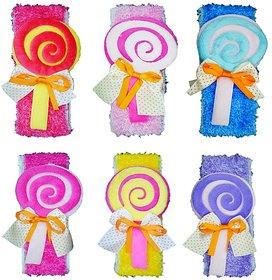 Crochet Cutwork Flower Baby Headband ( Red, Pink, Blue, Pink, Purple, White ) 6 Pcs Set