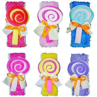 Crochet Cutwork Flower Baby Headband ( Red Pink Blue Pink Purple White ) 6 Pcs Set