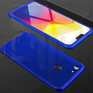 brand new 6875f f5df0 Oppo F7 Blue Colour 360 Degree Full Body Protection Front Back Case Cover  Standard Quality