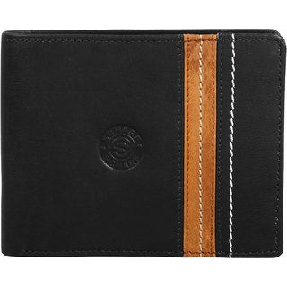 SCHARF Solid Pack Brown Mens Genuine Leather Bi-Fold Wallet MWA28