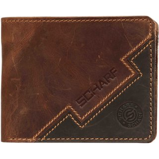 SCHARF Ox Of Shades Genuine Leather Bi-fold Wallet for Men MWA34