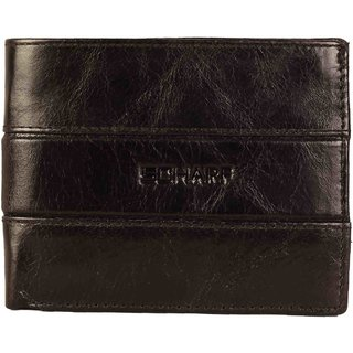 Scharf Black Genuine Leather Bi-Fold Mens Wallet AEPMWA03