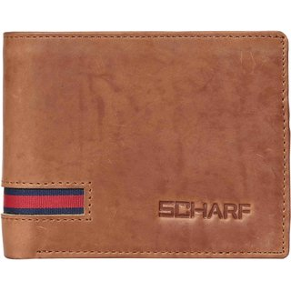 SCHARF Quick Cut Genuine Leather Bi-fold Wallet for Men MWA61