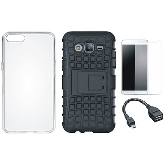 OnePlus 3T Shockproof Tough Armour Defender Case with Silicon Back Cover, Tempered Glass and OTG Cable