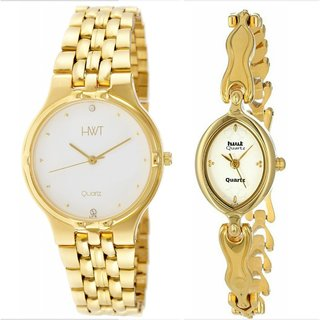 HWT White Quartz Couple Watch